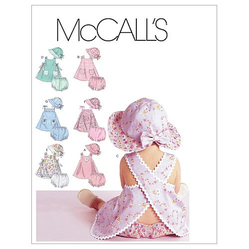 McCall's Patterns M6303 Infants' Dresses, Panties and Hat