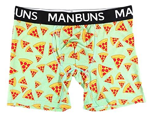 Pepperoni Pizza Athletic Funny Boxershorts für Herren - Grün - Small