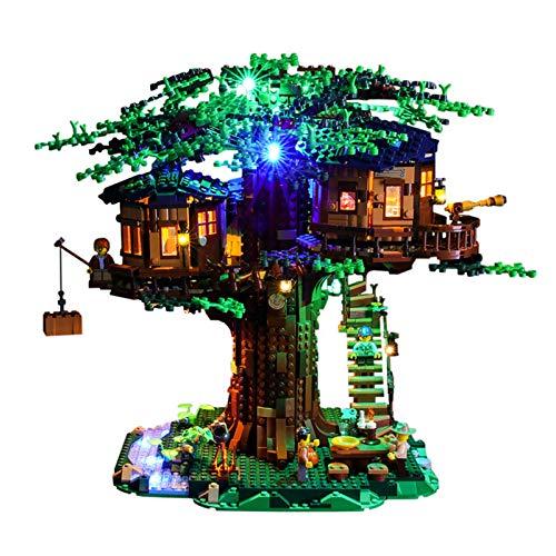 JTTM Conjunto de iluminación LED para (Casa de árbol) Bloques de construcción Modelo - Kit de luz Compatible con Lego 21318 (no Incluido Modelo Lego)
