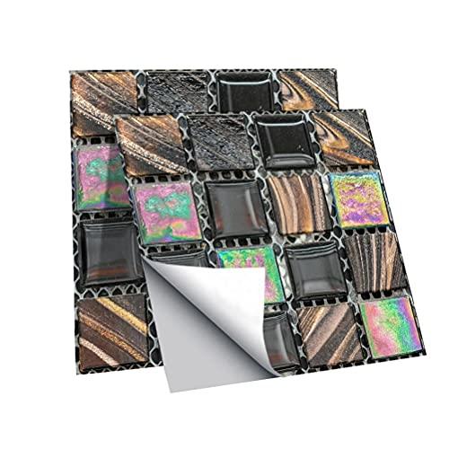 Kidnefn 30pcs 3D Crystal Tile Stickers Pegatinas De Pared Autoadhesivas para La DecoracióN De La Cocina del BañO, Bricolaje Living Bedroom Splashbacks Room Decor Wall Art Tile Paint Stick On Tiles