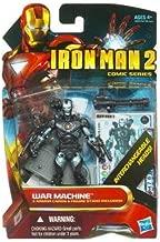 Iron Man 2 Comic 4 Inch Action Figure #38 War Machine Cyborg with Interchangeable Heads