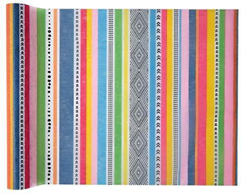 Miss Lovely Tisch-Läufer/Tisch-Decke Peru bunt in südamerikanischem Stil/Tisch-Dekoration/Tisch-Wäsche Vlies Motto-Party Lama, Peru, Mexiko Sommer-Party 1 Rolle = 5 Meter