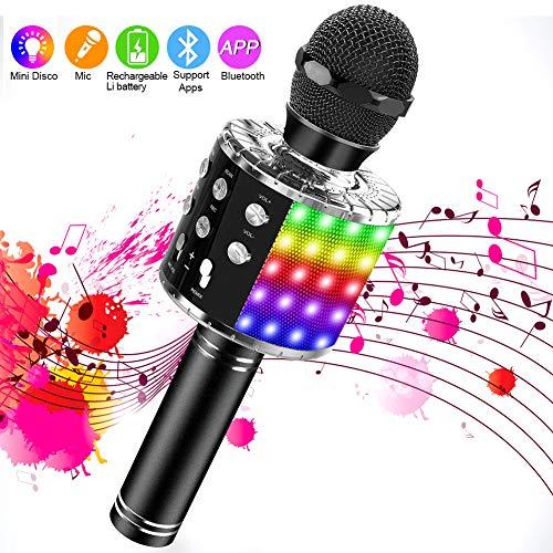 SaponinTree Microfono Inalámbrico Karaoke, Micrófono Karaoke Bluetooth...