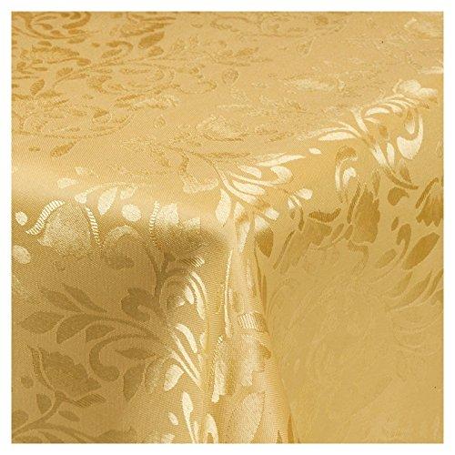 URBNLIVING Gold Damask Patterned Tablecloths 220 x 150 cm