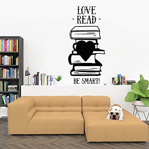 LovelyHomeWJ Wandaufkleber, Liebe, Lesezeichen, Intelligentes Zitat, Wörter, Vinyl, Fenster, selbstklebend, Lesezimmer, Buchhandlung, Studio, Innendekoration, Papier, 57 x 118 cm