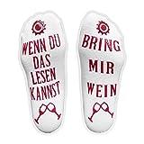 iZoeL Witzige Socken mit Geschenkbox für Herr Frau Freundin Spruch Wenn Du Das Lesen Kannst Bring...
