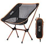 OUTAD - Silla plegable para acampada, capacidad de 330 lb (capacidad para exteriores, portátil,...