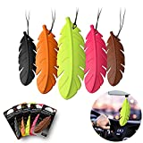 KOGADO Car Air Fresheners Long-Lasting Hanging Car Air Freshener Solid Colorful 5 Pieces for Cars for Home (Feather Strong Fragrance)
