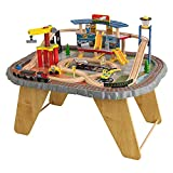 KidKraft Transportation Station Wooden Train Set and Table with...