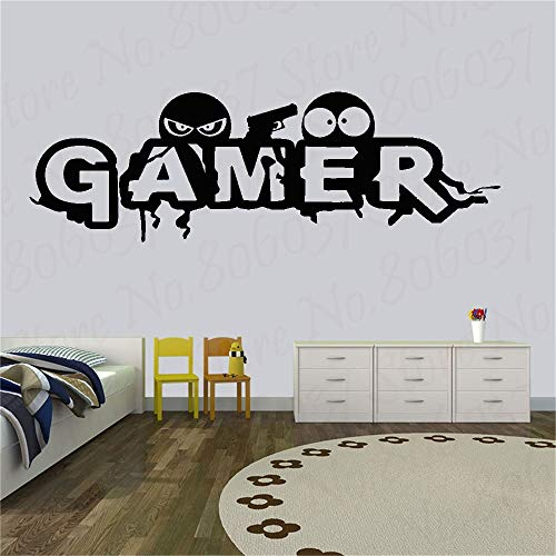 yaofale Player wall decals joystick decals video game decals game room decoration player stickers game console stickers bedroom decoration