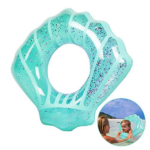 EXTSUD Kinder Schwimmring, Aufblasbare Muschel Schwimmring Luftmatratze Sommerliches Pool Wasserspielzeug Sommerspielzeug für Kinder ab 5 Jahre, 80*90cm