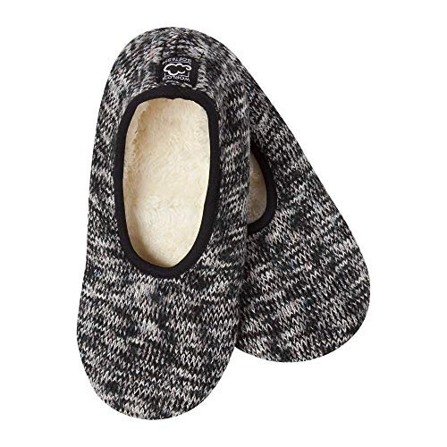 World's Softest Women's Weekend Collection Ragg Knit Ankle Slipper Nightfall Large