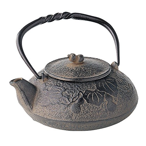 TOKYO MATCHA SELECTION - Nanbu Tetsubin - Hisago (Gourd design) 0.4 Liter : Japanese cast iron teapot from Iwate Japan [Standard ship by EMS: with Tracking & Insurance]