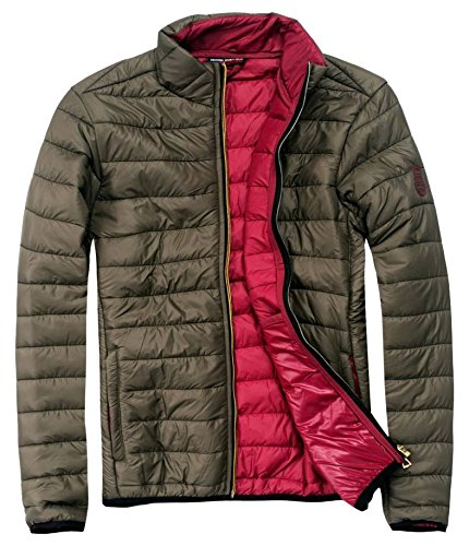 EXUMA Damen Sportbekleidung Aufgeblasen Jacken, Khaki, M
