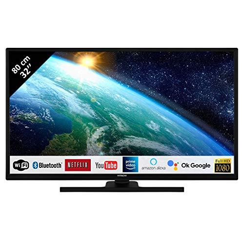 Hitachi 32FK5HE4200 - Televisor LED 32' 80,01 cm Full HD 1080p Alexa Google Smart TV: Netflix, Prime/WIFI, 2 HDMI/1 USB