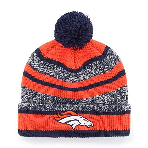 OTS NFL Denver Broncos Men's Huset Cuff Knit Cap with Pom, Team Color, One Size