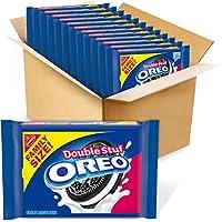 OREO Double Stuf Chocolate Sandwich Cookies, Family Size, 12 - 20 oz Packs