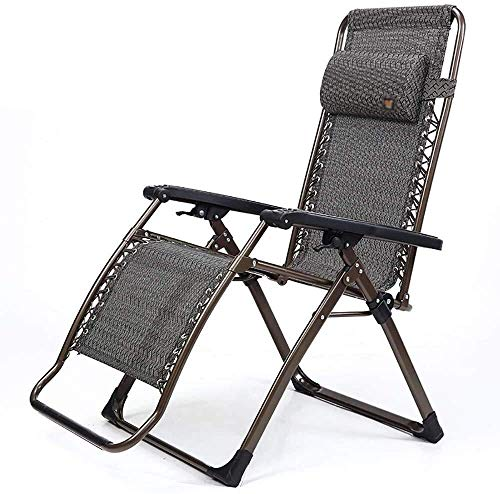 DSHUJC Folding Chair Chaise Longue Adjustable For Office Nap Bed Senior Man Portable Leisure Chair Garden Beach Camping Sunbed, Lightweight, Load 250 Kg