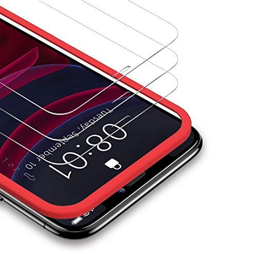 BANNIO Protector de Pantalla iPhone 11 Pro/iPhone XS/iPhone X 5.8 Zoll,3 Unidades 2.5D Cristal Templado para iPhone 11 Pro/iPhone XS/X con Kit de Instalación,Anti-Huella Digital,Anti-Scratch