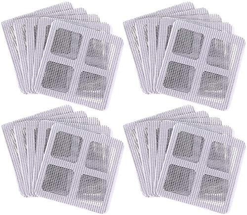 Parche de fibra de vidrio, 20 Pcs Parches de Reparación de Malla Autoadhesivos para Malla Mosquitera de Ventana y Puerta, Para reparar Mosquitera para ventanas (10 × 10 cm)