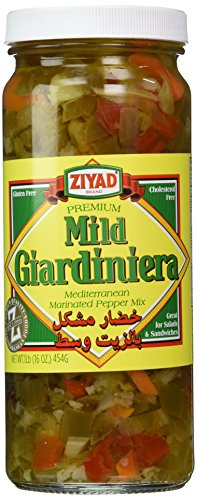 Ziyad Giardiniera Mild Mediterranean Peppers Mix, Chicago, Great on Sandwiches and Egg Salads, Pizza, Italian Beef! 16 oz