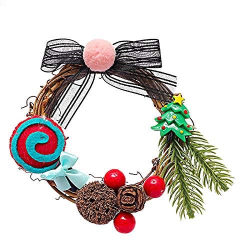 Bricolaje Feliz Navidad GuirnalGuirnalVentana Puerta Decoraciones Bowknot Adorno Deco Adornos árboles Navidad Copo nieve Decoraciones árboles Navidad Decoraciones navideñas Decoraciones ventanas
