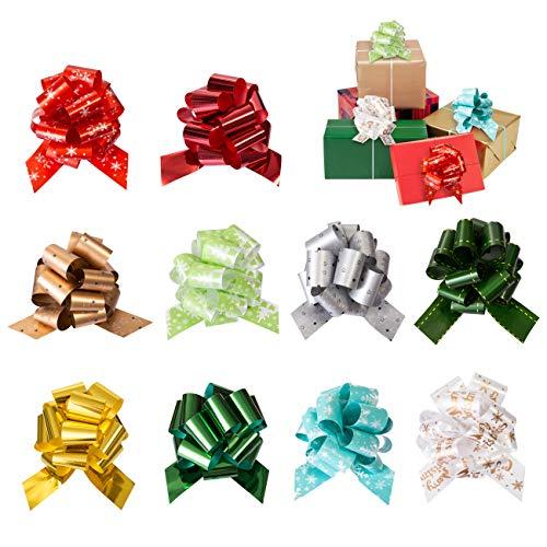 Naler 10 Lazos para Embalaje de Regalo Navidad Lazos Boda Decoración Diseño de Escena 10 Colores