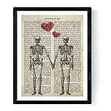 Nacnic Druck für die Gestaltung Paar Skelette. Drucken mit