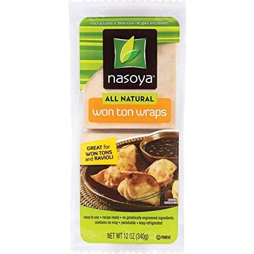 Nasoya All Natural Won Ton Wraps, 12 Ounce -- 6 per case.