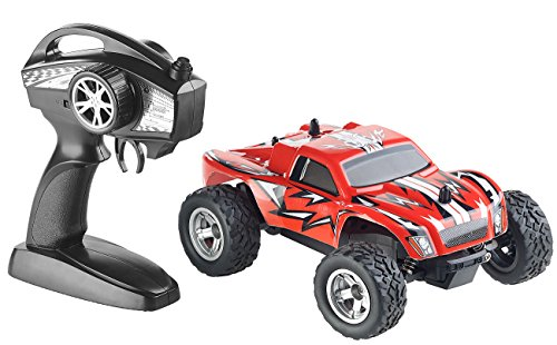 RC Auto kaufen Monstertruck Bild: Simulus Monstertruck: Ferngesteuerter Monster-Truck Land Monster, 2,4-GHz-Funk, 15 km/h (RC Car)*