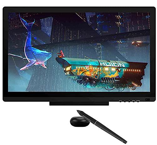 Xyfw Monitor De Tableta Digital con Lápiz, Monitor De Dibujo De Gráficos Pantalla con Lápiz con Función De Inclinación del Lápiz Sin Batería para Win Mac