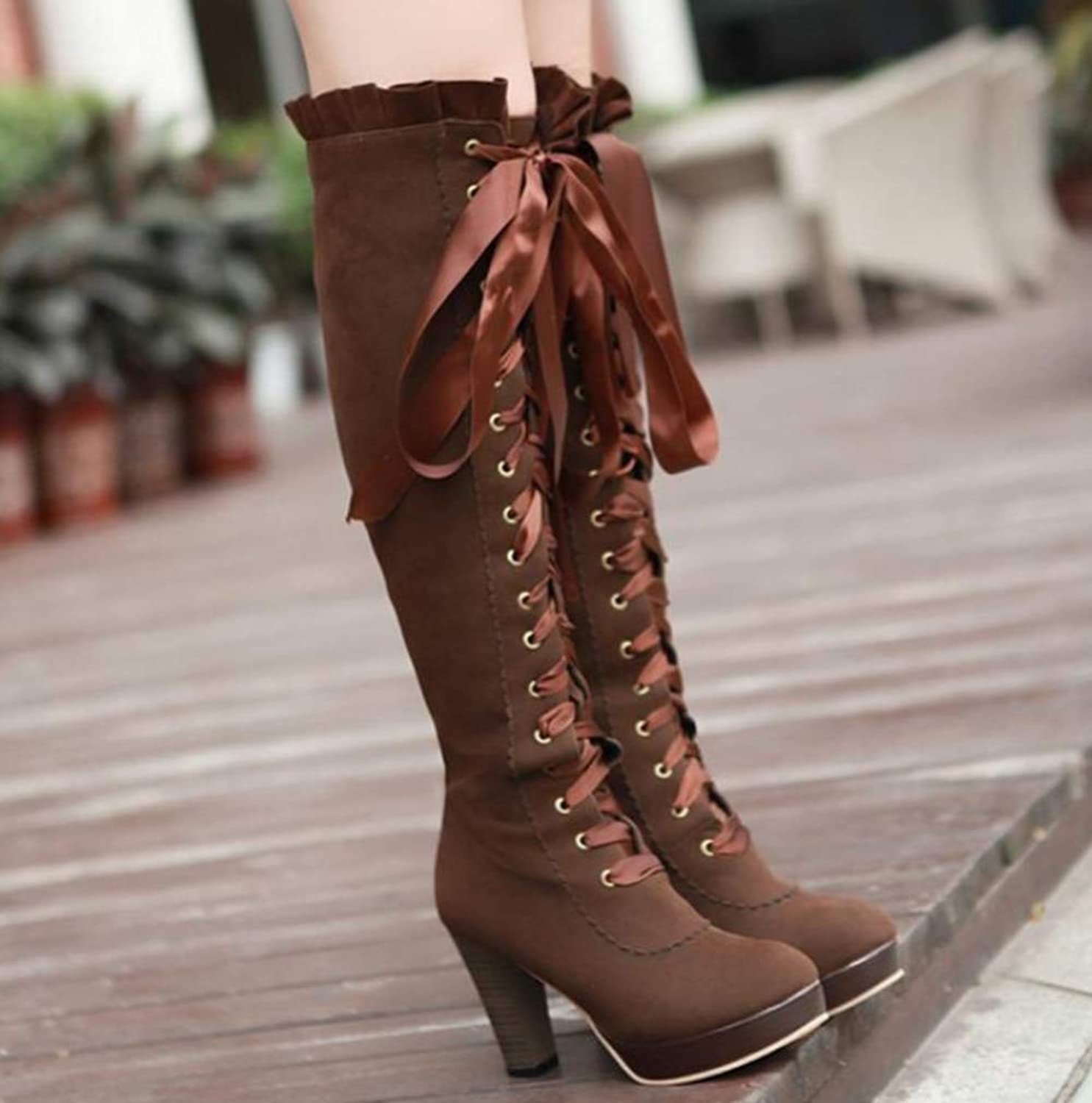 Shiney Women's High-Heeled Martin Boots High-Boots Cashmere Round Head Autumn and Winter