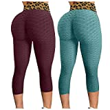 MINYING Legging Anti-Cellulite, Pantalons de Yoga à Taille Haute pour Femme, Cellulite Anti-Cellulite Faisant Face à Un brûleur de Graisse en Cours de Conception de Collants