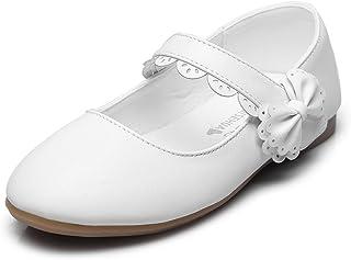 a6fa970d03465 Maxu Girls Mary Jane Bow Side Strap Ballerina Flat