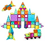 Neoformers Magnetic Building Tiles, 110 Pcs 3D Magnetic Building Blocks Set for Kids, STEM...