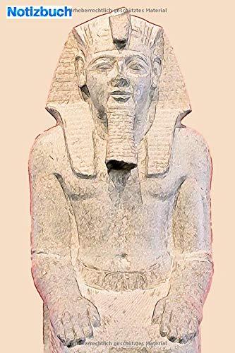 """Notizbuch: eine Statue des ägyptischen Pharaos: 6 \""""x 9\"""", 103 Seiten, College-Version für Studenten, Schulen und Universitäten"""