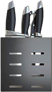 bloc de couteaux Porte-couteau suspendu mural Espace de cuisine Couteau en aluminium couteau de rangement porte-support Su...