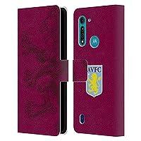 Head Case Designs オフィシャル ライセンス商品 Aston Villa Football Club オーバーサイズ・ライオン クレスト Motorola Moto G8 Power Lite 専用レザーブックウォレット カバーケース