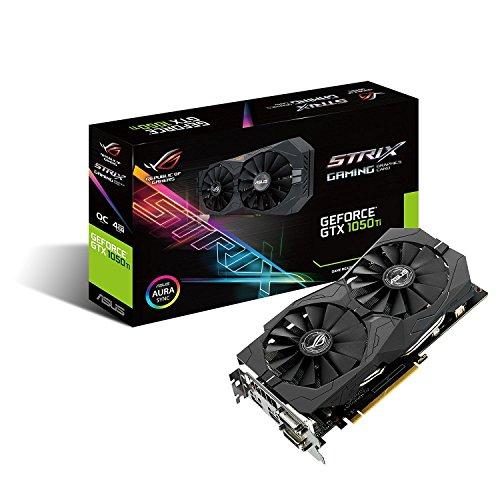 ASUS Geforce GTX 1050Ti 4GB ROG STRIX OC Edition HDMI 2.0 DP 1.4 Gaming Graphics Card (STRIX-GTX1050TI-O4G-GAMING) Graphic Cards [並行輸入品]