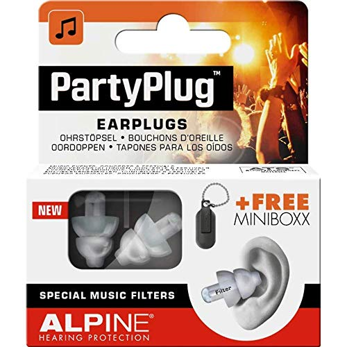 Alpine PartyPlug Ear Plugs Hearing Protection for Parties, Music Festivals,...
