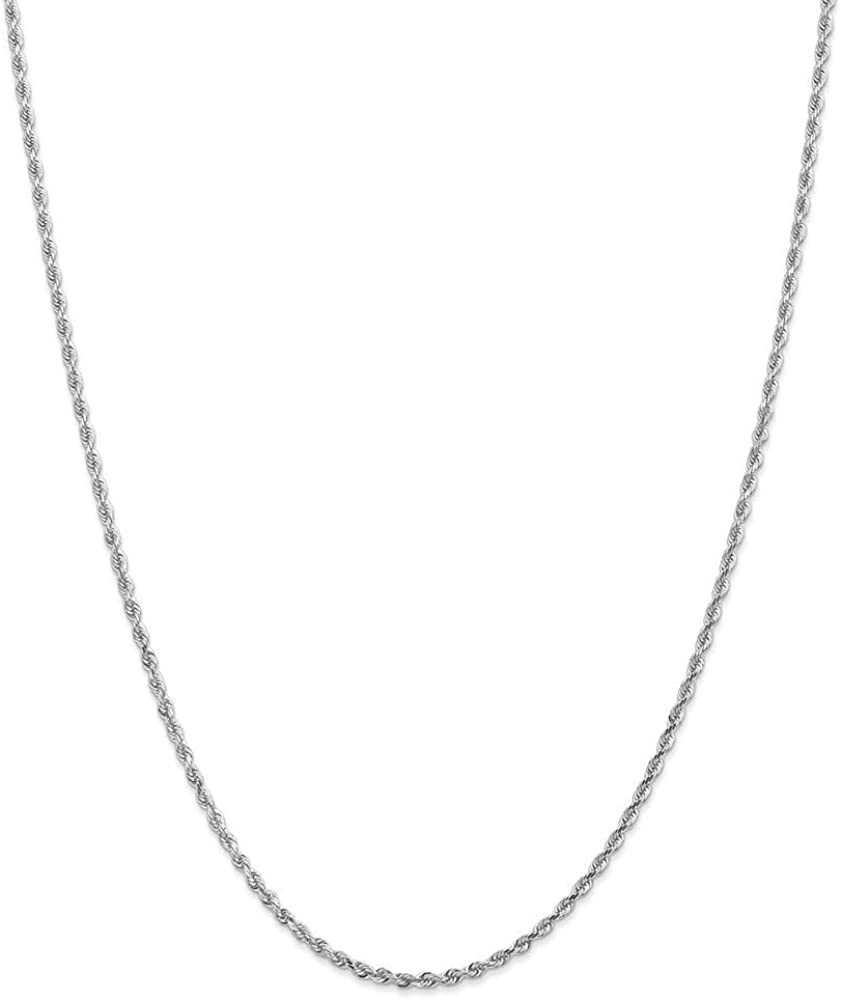 10k White Gold 2.25mm Diamond-Cut Necklace Chain Rope All items free shipping Quadruple It is very popular