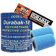 Durabak Black Textured, Outdoor, UV Resistant, Truck Bed Liner Gallon KIT - Roll On Coating | DIY Custom Coat for Bedliner and Undercoating, Auto Body, Automotive Rust Proofing, Boat Repair