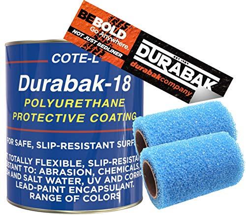Durabak Light Gray Textured, Outdoor, UV Resistant, Truck Bed Liner Gallon KIT - Roll On Coating   DIY Custom Coat for Bedliner and Undercoating, Auto Body, Automotive Rust Proofing, Boat Repair