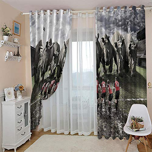 LUOWAN Cortinas para Dormitorio Moderno Salon Toreo Total Size:92