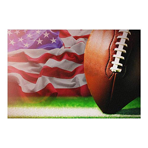 Picture Puzzle, American Football Jigsaw Puzzle 1000 Piece Funny Brain Puzzles Educational Gift for Adult Kids Family Home Wall Decorations