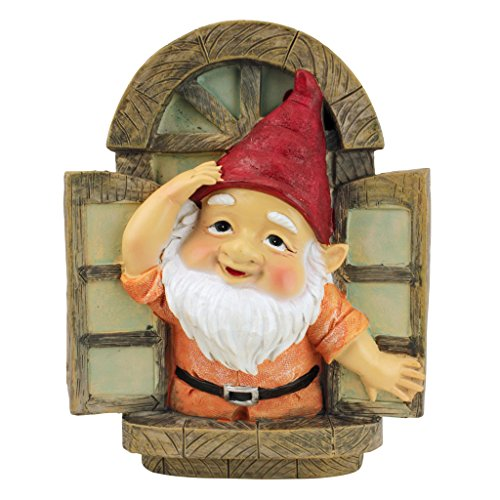 Statue-Knothole Welcome Tree Window-Fairy Garden-Gnome Village, Full Color - Design Toscano QL4283