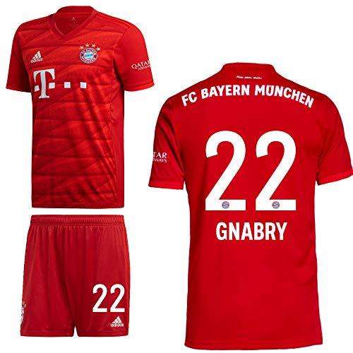 adidas FCB FC Bayern München Home Kit Heimset 2019 2020 Kinder Gnabry 22 Gr 164