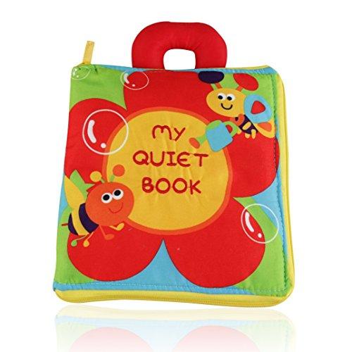 OFKPO Libros de Tela Blandos Aprendizaje y Educación para Bebé Niños