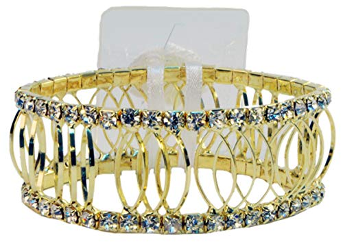 Fitz Design Corsage Bracelet - Royalty Rhinestone - Gold Tone