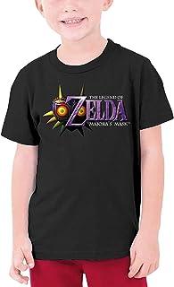 guoweiweiB Camisetas de Manga Corta para niño, The Legend of Zelda Majora'S Mask Logo Teenage Round Neck T-Shirt for Girls...